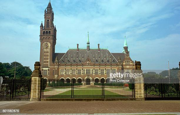 Peace Palace in the Hague, which houses the International Court of Justice, early 20th century.