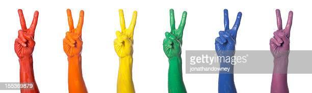 la paix - symbole de la paix photos et images de collection
