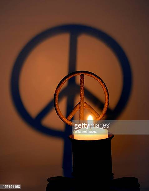 Peace Sign Candle