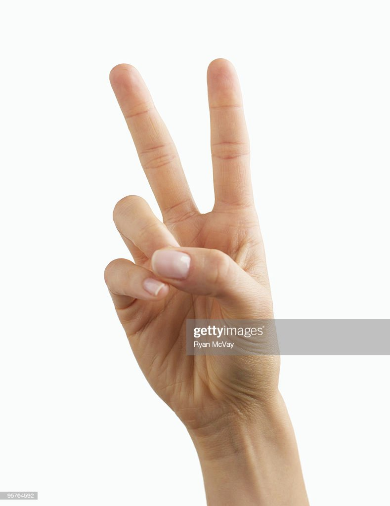 peace sign on white : Stock Photo