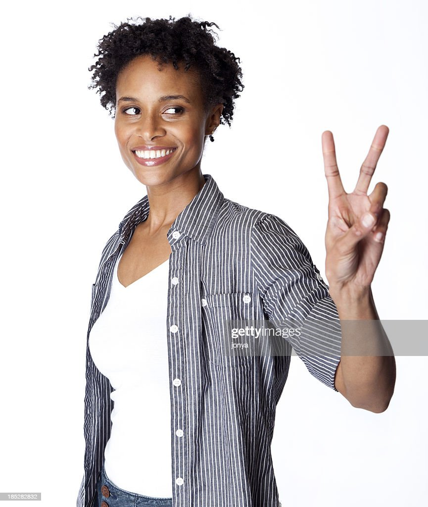 peace sign : Stock Photo