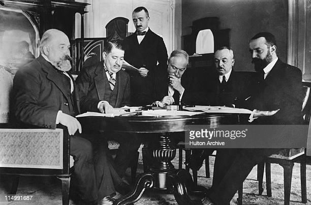 A peace treaty is signed at Ouchy Castle in Lausanne Switzerland at the end of the ItaloTurkish War 18th October 1912 It was known as the Treaty of...