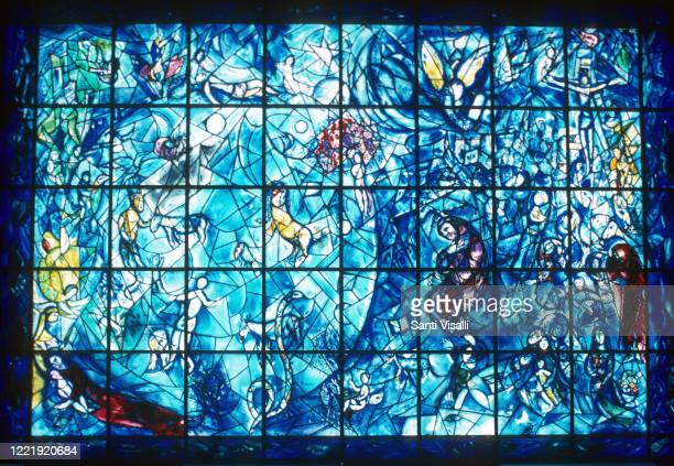 Peace Window at the UN by Marc Shagall on June 6, 1979 in New York, New York.