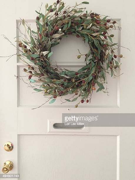 Peace Wreath On Door