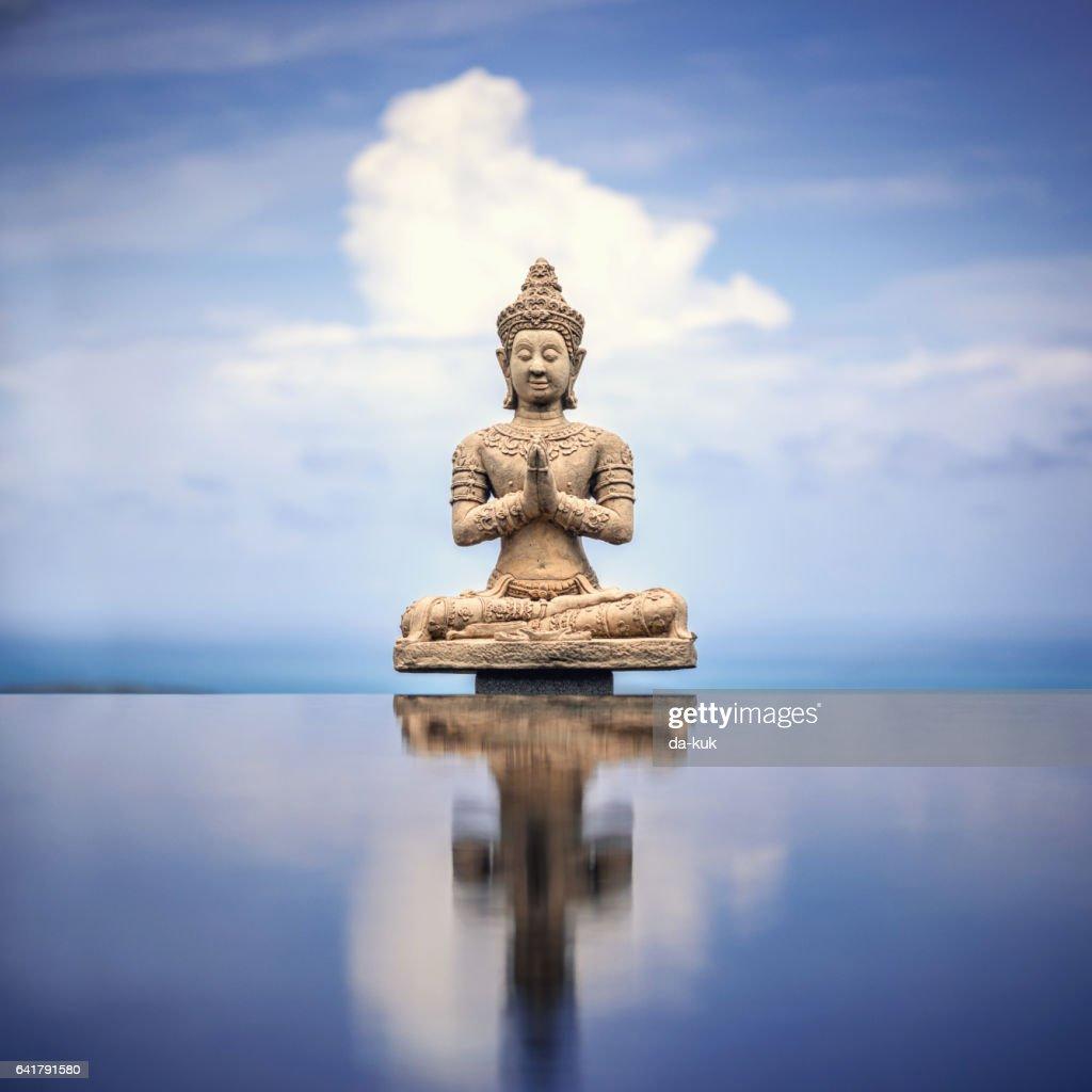 Peaceful Buddha Statue : Stock Photo