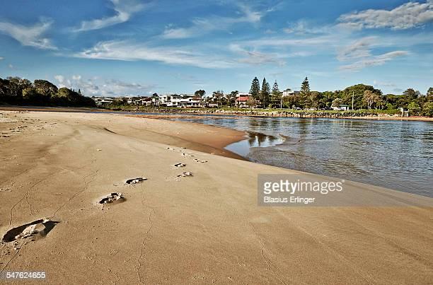 Peaceful empty beach