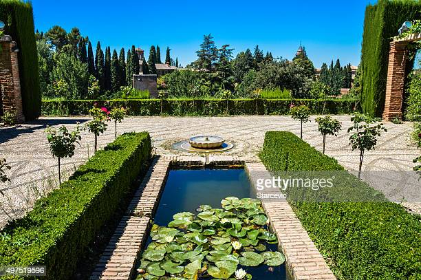 Peaceful garden with fountain - Granada, Spain