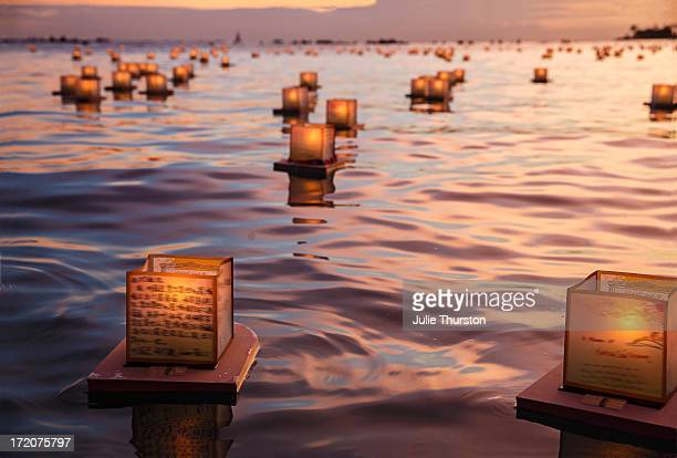 Peaceful Japanese Floating Lanterns