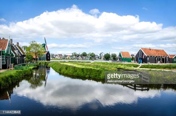 Peaceful Neighborhood In Zaanse Schans, The Netherlands