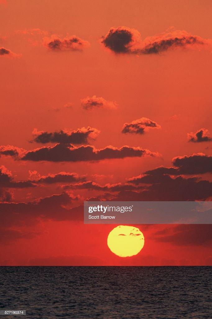 Peaceful ocean sunset : Photo