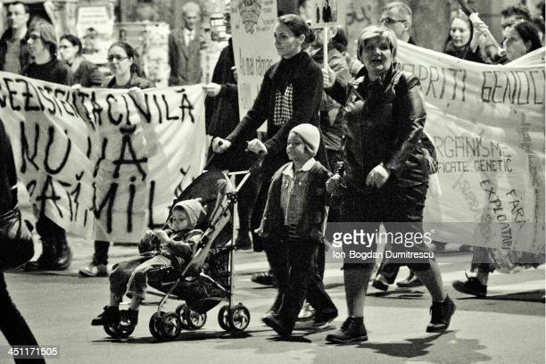 Peaceful protests in Bucharest Romania against the open cast, cyanide using, gold mining in Rosia Montana, Romania, but also against shale gas...