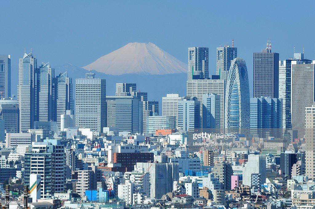 Peaceful Sunday, Shinjuku, Tokyo : ストックフォト