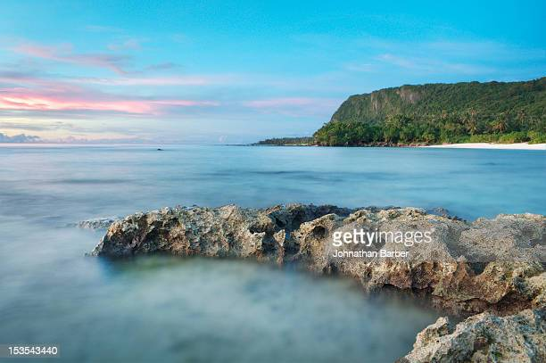 peaceful tanguisson evening [explored] - guam stock pictures, royalty-free photos & images