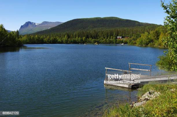 peaceful tarra river - norrbotten province stock pictures, royalty-free photos & images