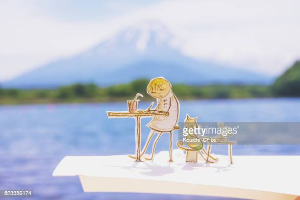 a peaceful time - kouichi chiba stock photos and pictures