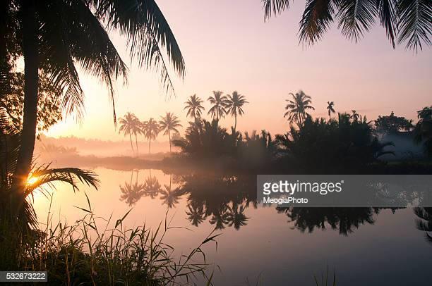 A peaceful village in sunrise in Hoi An, Vietnam