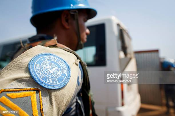 UN peacekeeper Blue Beret on the United Nations Mission in South Sudan UNMISS on March 27 in Juba South Sudan UNMISS is a United Nations peacekeeping...