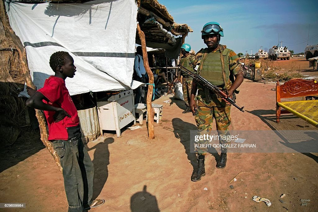 Peacekeeper troops from Ethiopia and deployed in the UN