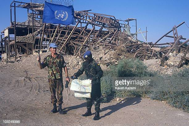 Peacekeeping forces in Khoramshahr, Iran, after UN Security Council Resolution 598 and commencement of ceasefire in the Iran-Iraq War, 18th August...
