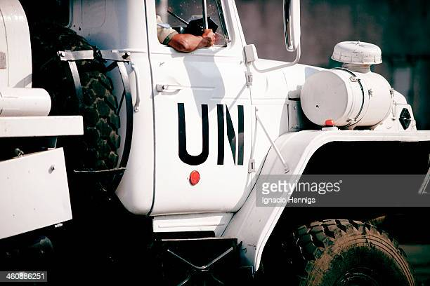 Peacekeeping troops in DRC patrolling the city of Goma.