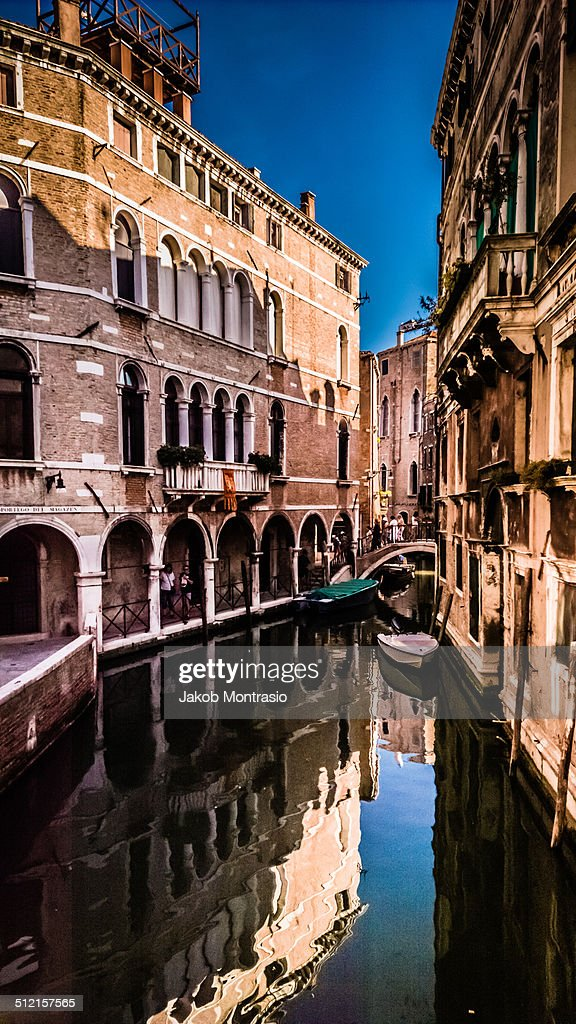 Peacful canal in Venice : Stock Photo
