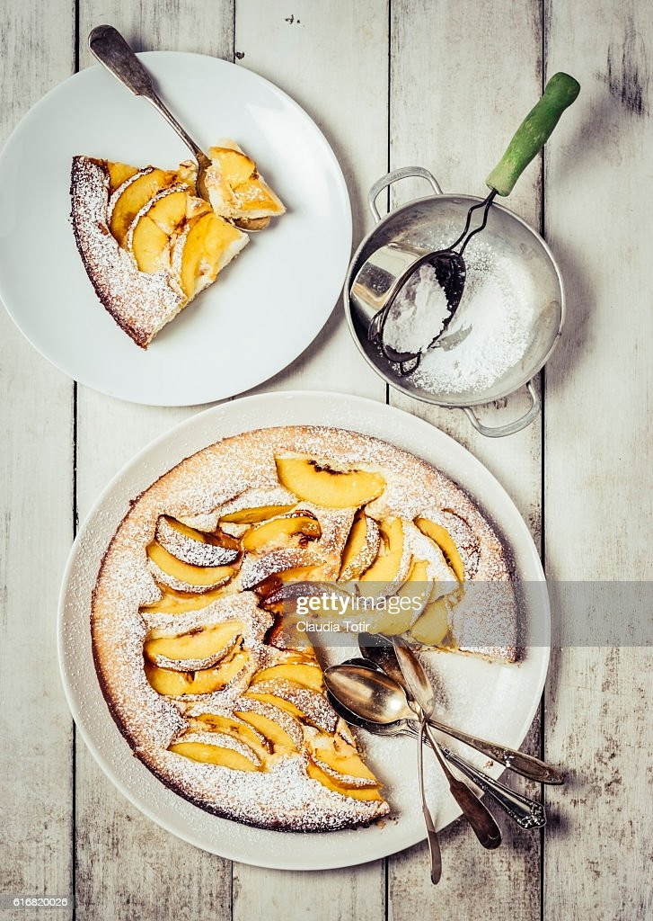 Peach cake : Stock Photo