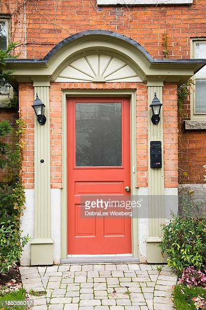 peach door series - kingston ontario stock photos and pictures