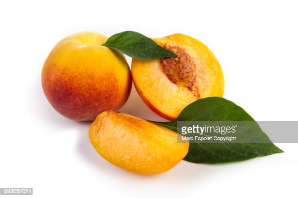 peach fruit - peach stock photos and pictures