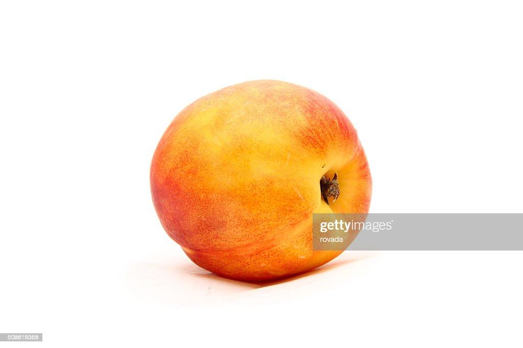 Peach isolated on white : Stock Photo