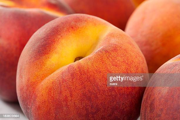 peach macro - peach stock photos and pictures