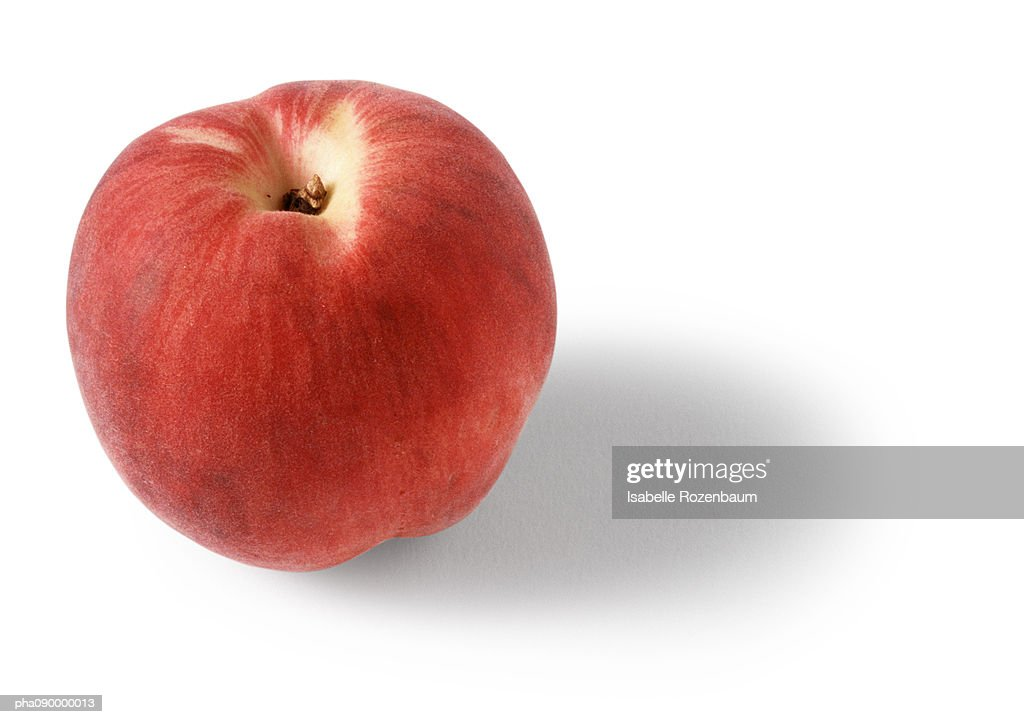 Peach, white background : Stockfoto