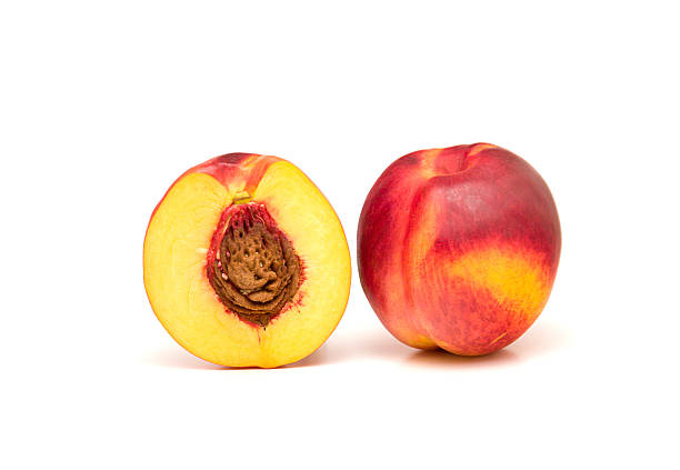 Free peache fruit white background Images, Pictures, and