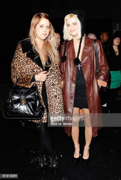 Peaches and Pixie Geldof attends the DieselUMusic World Tour Party held at the University of Westminster on October 1 2009 in London England