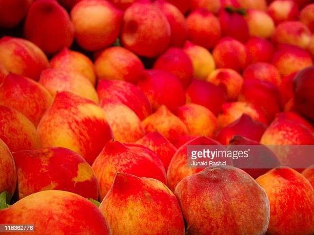 Peaches at fruit market,  Lahore