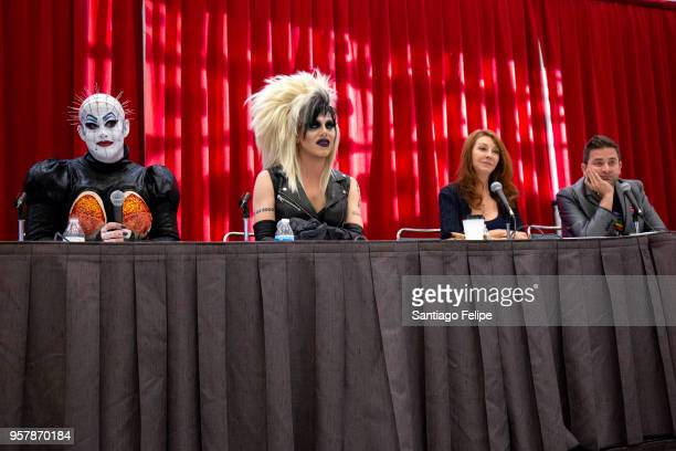 Peaches Christ Sharon Needles Cassandra Peterson and Michael Varrati attend the 4th Annual RuPaul's DragCon at Los Angeles Convention Center on May...