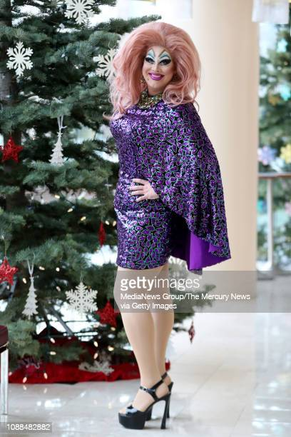 Peaches Christ strikes a pose at Davies Symphony Hall in San Francisco Calif on Saturday Dec 15 2018 Peaches Christ a drag performer emcee filmmaker...