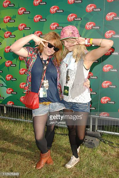 Peaches Geldof and DJ Partner in the Virgin Mobile Louder Lounge at the V Festival
