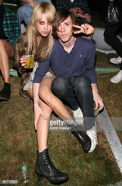 """Peaches Geldof and husband Max Drummey attends the """"Mini Rooftop NYC"""" Hosts V Magazine Celebration at One Space on September 10, 2008 in New York City"""