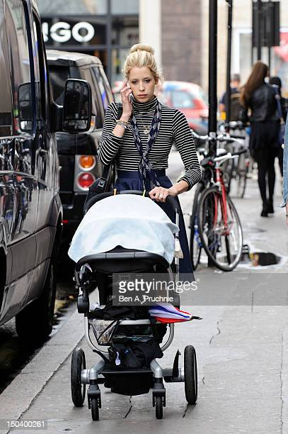 Peaches Geldof and son Astala sighted in Central London on August 16 2012 in London England