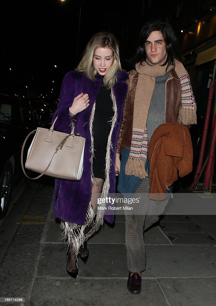 Peaches Geldof and Thomas Cohen at JuJu restaurant on March 30, 2013 in London, England.