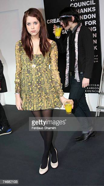 Peaches Geldof at the BFC Tent in London United Kingdom