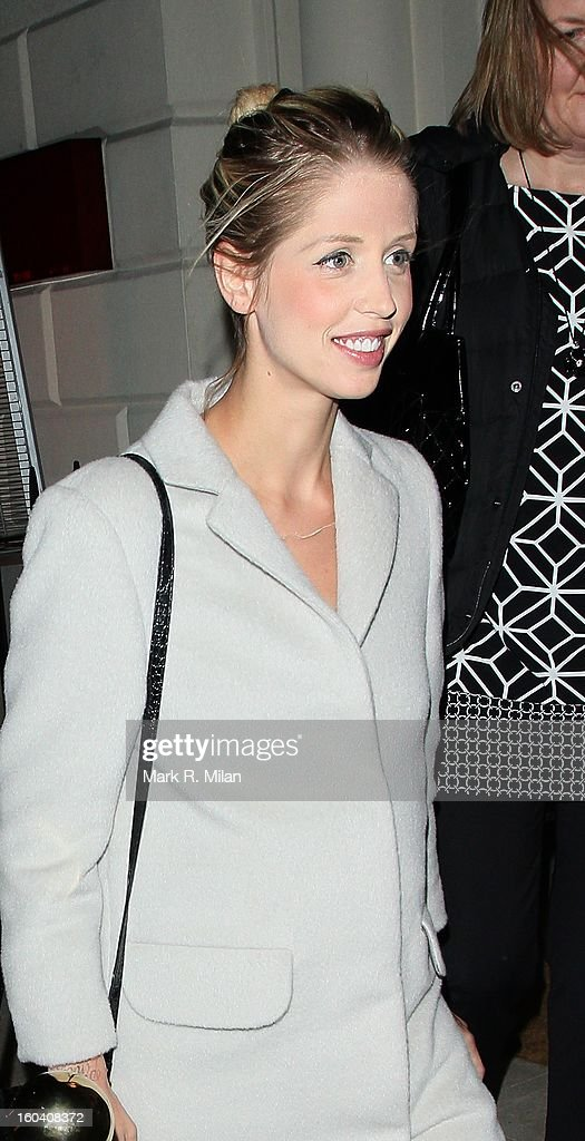 Peaches Geldof attending the Diet Coke private party held at Sketch restaurant on January 30, 2013 in London, England.