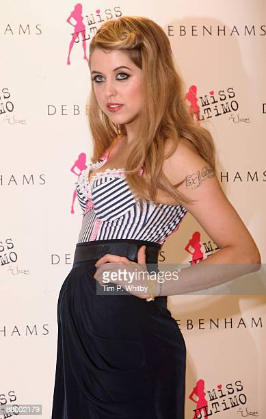 08b7a2525f Peaches Geldof attends a photocall as the new face of Ultimo at Debenhams  on May 27