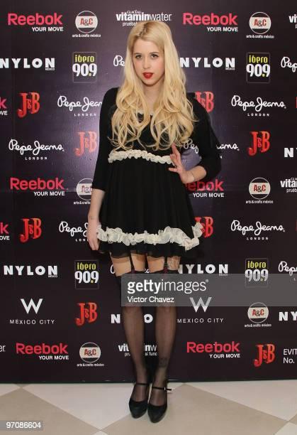 Peaches Geldof attends Nylon Mexico Magazine Anniversary celebration at Amapola Cabaret Ballroom on February 25 2010 in Mexico City Mexico