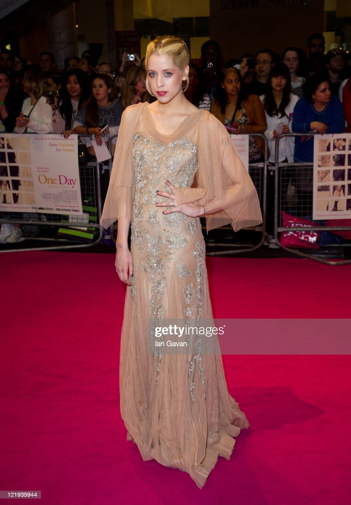 Peaches Geldof attends the European premiere of 'One Day' at Vue Westfield on August 23, 2011 in London, England.