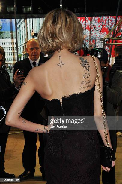 Peaches Geldof attends The Girl With The Dragon Tattoo world premiere at Odeon Leicester Square on December 12 2011 in London England