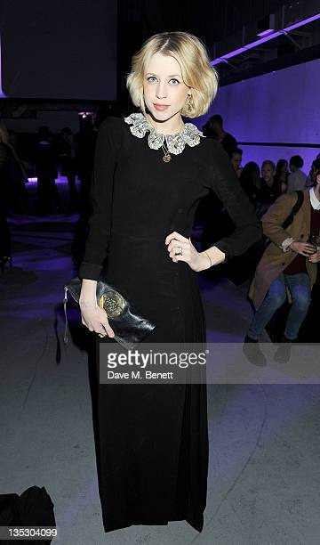 Peaches Geldof attends the launch of the Gareth Pugh For M.A.C Collection at Ambika P3 on December 8, 2011 in London, England.