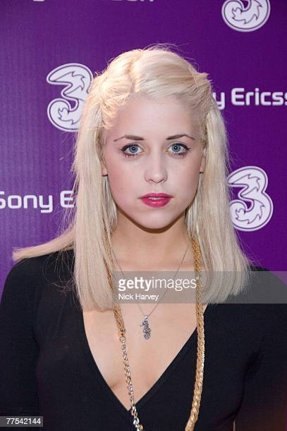 Peaches Geldof attends the Sony Ericsson K770i Phone - Launch Party on October 24, 2007 in London, England.