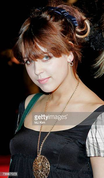 Peaches Geldof attends the UK premiere of the movie 'Factory Girl' held at the Vue West End on March 13th 2007 in London England