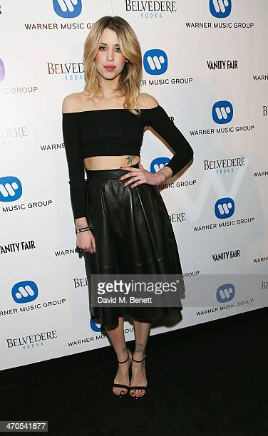 Peaches Geldof attends The Warner Music Group And Belvedere Brit Awards After Party In Association With Vanity Fair at The Savoy Hotel on February 19...